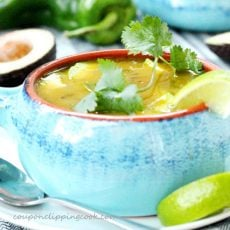 Green Chili and Chicken Tortilla Soup