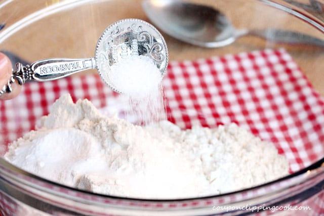 Add salt in bowl