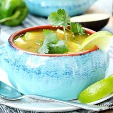 Chicken and Green Chili Tortilla Soup