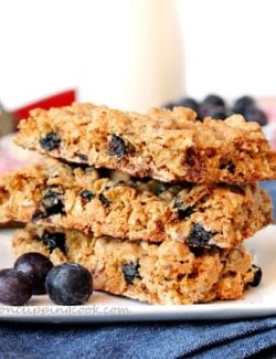 Oatmeal Blueberry Cookie Bars