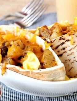 Breakfast Burrito Pita