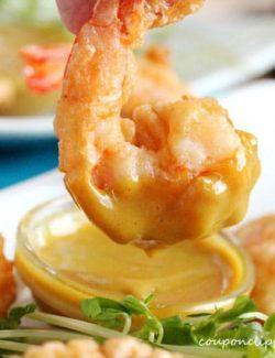 Tempura Shrimp in Mustard Sauce