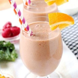 Orange Marmalade Raspberry Smoothie