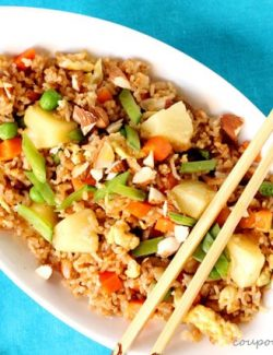 Fried Rice with Pineapple and Almonds