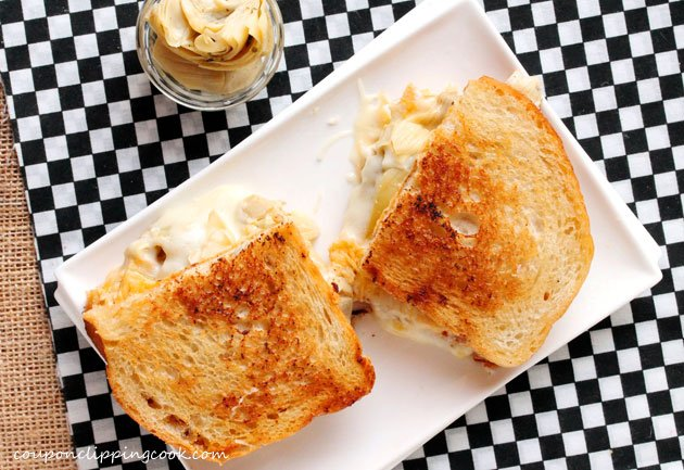 2-Artichoke-and-smoked-gouda-grilled-cheese