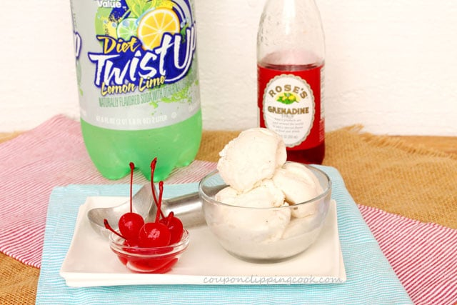 Shirley Temple Ice Cream Float ingredients