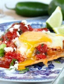 Huevos Rancheros {Egg Tostada}