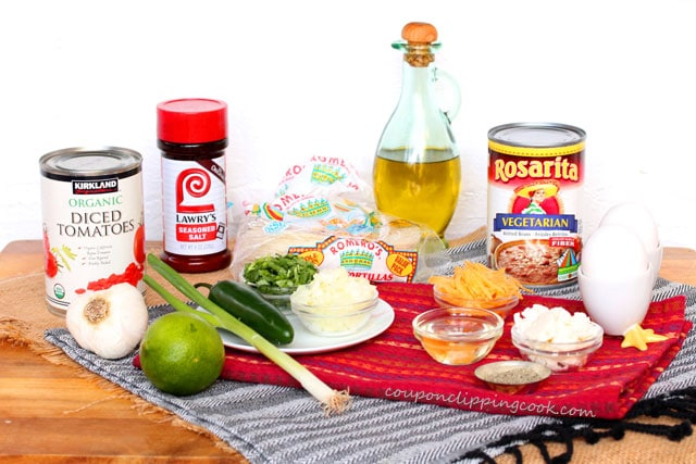 Huevos Rancheros (Egg Tostada) ingredients
