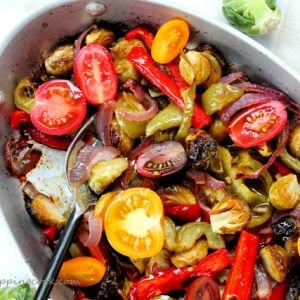 Brussels Sprouts with Fajita Vegetables