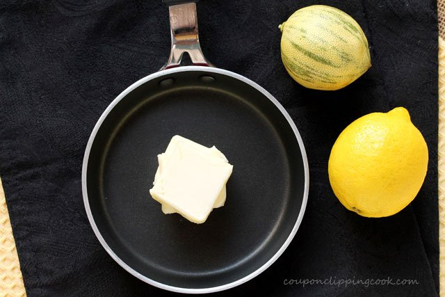 Butter in small pan with whole lemons