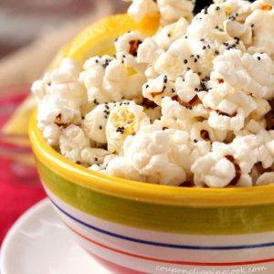 Lemon Butter Poppy Seed Popcorn