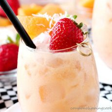 Cantaloupe Berry Agua Fresca