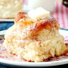 Snickerdoodle Skillet Biscuit on Plate