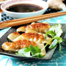 Chinese Dumplings with Dipping Sauce