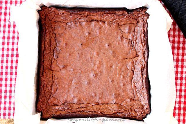 Baked Brownies in Pan