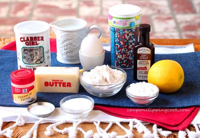 Funfetti Skillet Biscuit Ingredients