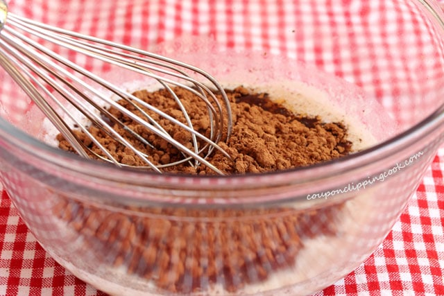 Whisk cocoa powder with butter