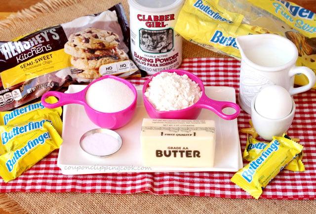 Butterfinger Brownie Ingredients