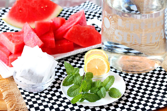 Watermelon Infused Lemon Mint Iced Green Tea ingredients