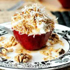 Maple Yogurt and Granola Apple Cups