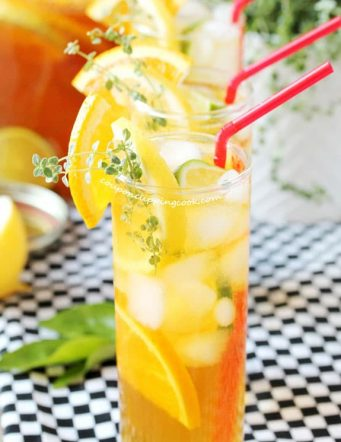Honey Citrus and Thyme Iced Tea