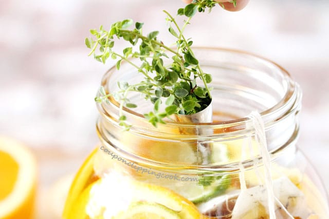 Add Thyme to Citrus Iced Tea
