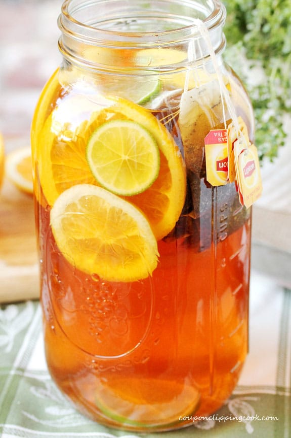 Honey Citrus Tea in large pitcher