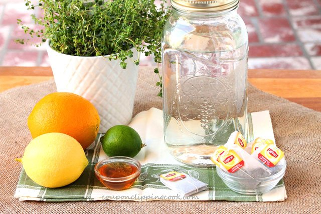 Honey Citrus and Thyme Iced Tea ingredients