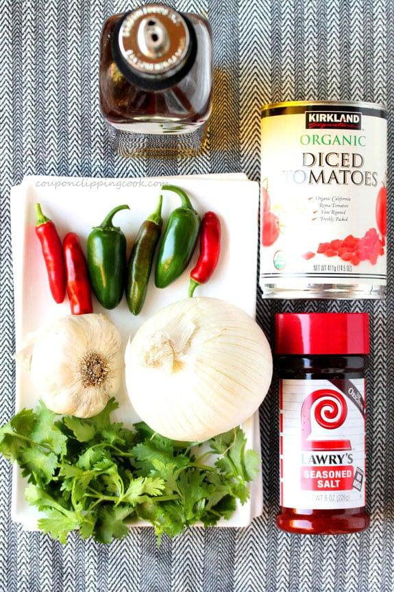 Roasted Garlic Tomato Salsa ingredients