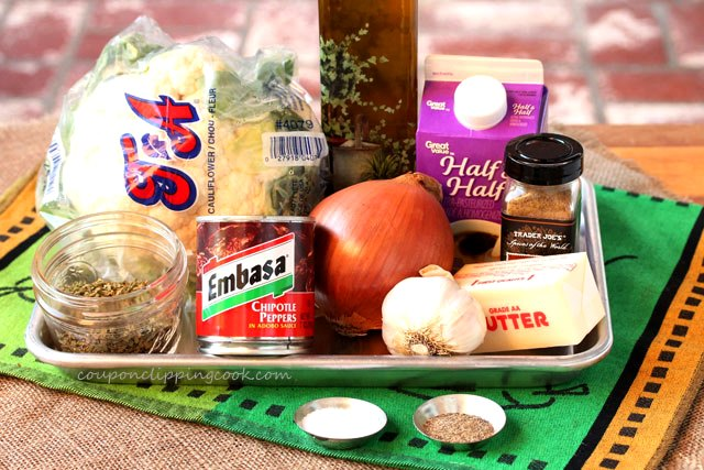Roasted Adobo Cauliflower Soup ingredients