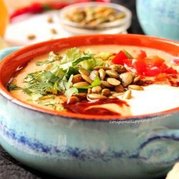 Roasted Adobo Cauliflower Soup