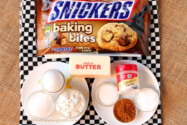Snickers Snickerdoodle Cookies ingredients