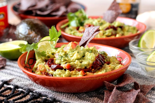 Layered Chipotle Guacamole in bowl