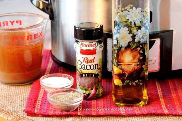 Slow Cooker Pinto Bean Mash ingredients
