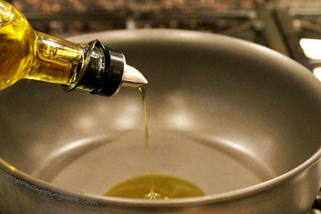 Add olive oil in pot
