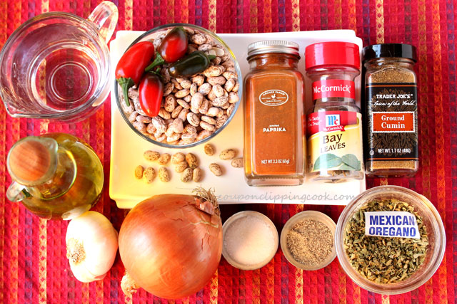 Roasted garlic pinto bean mash ingredients