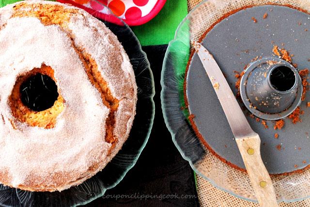 Sour Cream Coffee Cake with Irish Cream with bundt pan