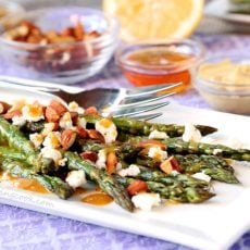 Honey Dijon Asparagus and Goat Cheese