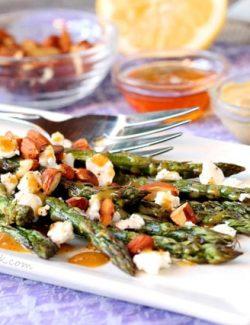 Honey Dijon Asparagus and Goat Cheese