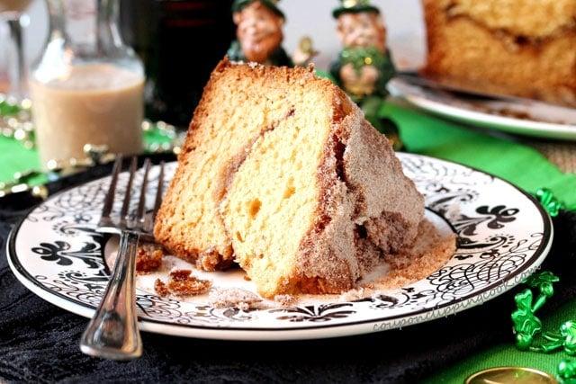 Sour Cream Coffee cake on plate