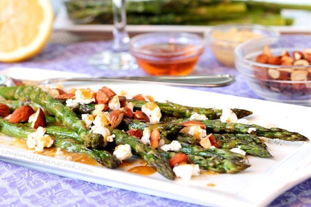 Asparagus with Goat Cheese adn Almonds
