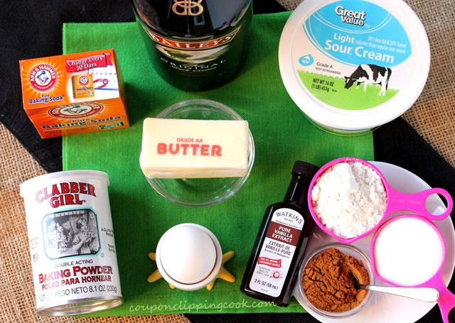 Sour Cream Coffee Cake with Irish Cream ingredients