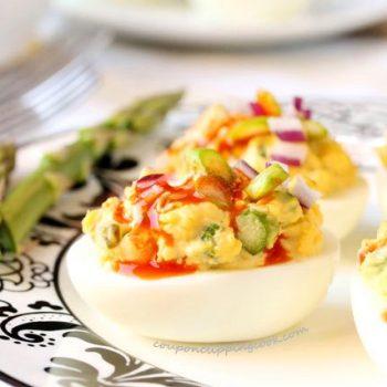 Spicy Asparagus Deviled Eggs