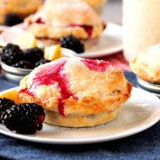 Blackberry Mason Jar Lid Pies