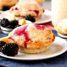 Blackberry Mason Jar Lid Pies