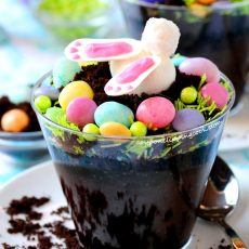 Easter Bunny Dirt Cup Dessert