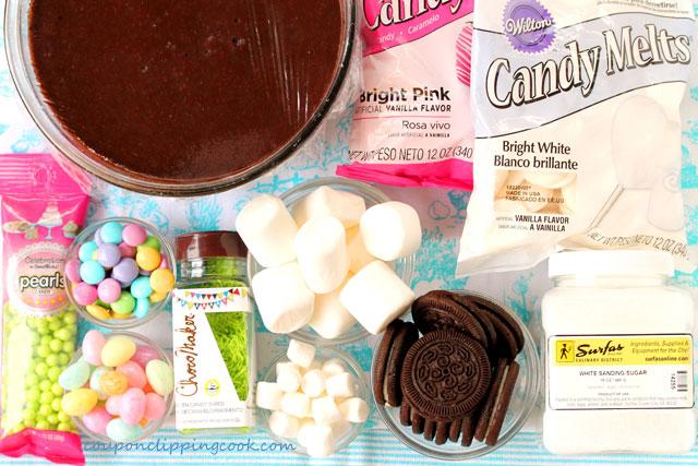 Bunny Bottom Chocolate Dirt Cup Dessert ingredients