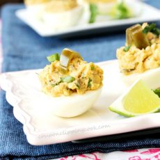 Jalapeno Deviled Egg on Plate