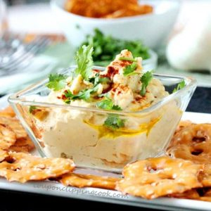 Cilantro Hummus in Bowl