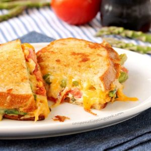 Roasted Asparagus Grilled Cheese